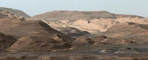 curiosity rover mount sharp mars