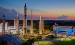 Besuchen Sie das Kennedy Space Center in Cape Canaveral, Florida, USA.