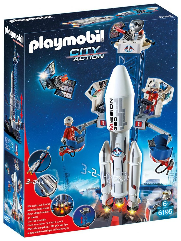 playmobil space rocket launch site