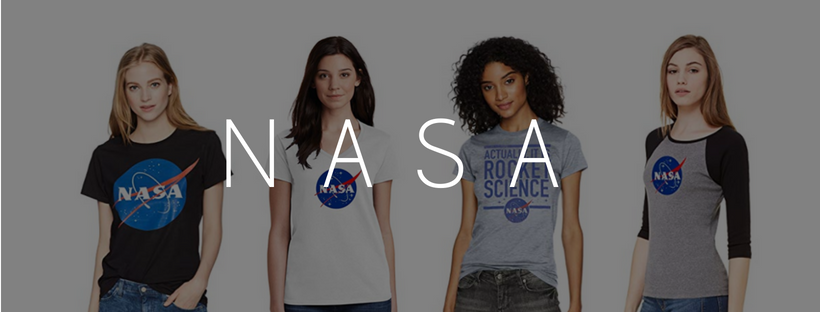 womens NASA t-shirts