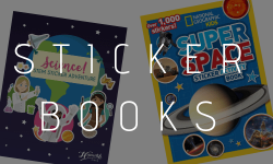 Space sticker books