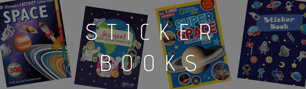 space sticker books