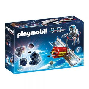 playmobil satellite meteroid laser 6197