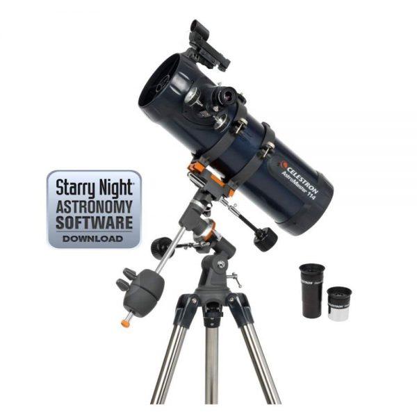 reflector telescope celestron 31042 astromaster 114 eq