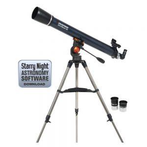 refractor telescope celestron 21063 astromaster 90az