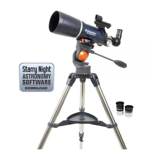 refractor telescope celestron 21082 astromaster 80azs