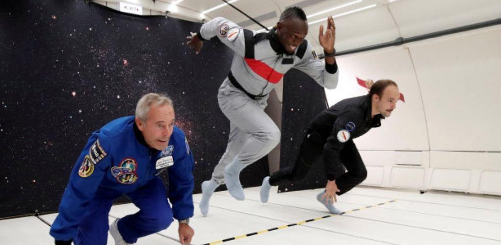 usain bolt weightlessness