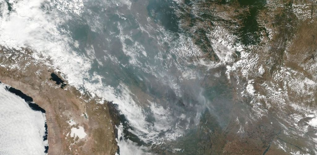 fires amazon from space