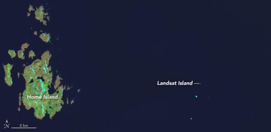 landsat island