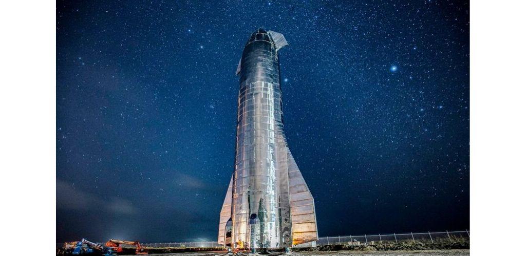 starship by night