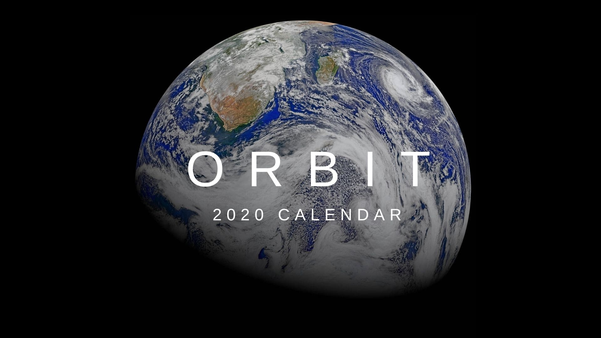 2020 space calendar