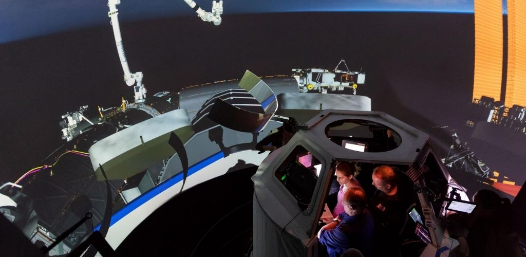 SpaceX Crew Dragon simulation astronaut training