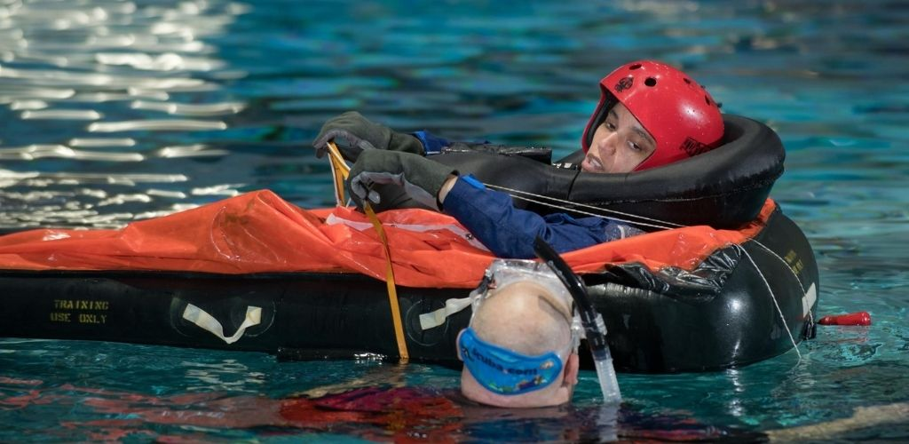 water survival astronaut training