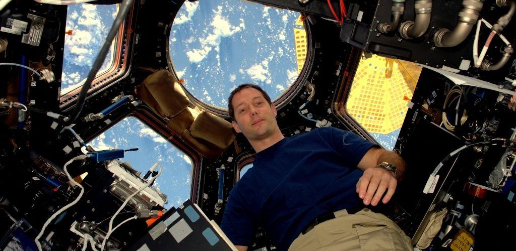 El astronauta de la ESA Thomas Pesquet en la Estación Espacial Internacional